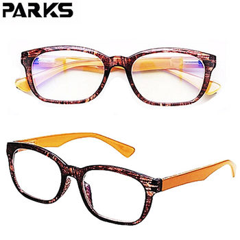 PARKS 濾藍光眼鏡 經典思想-木紋棕