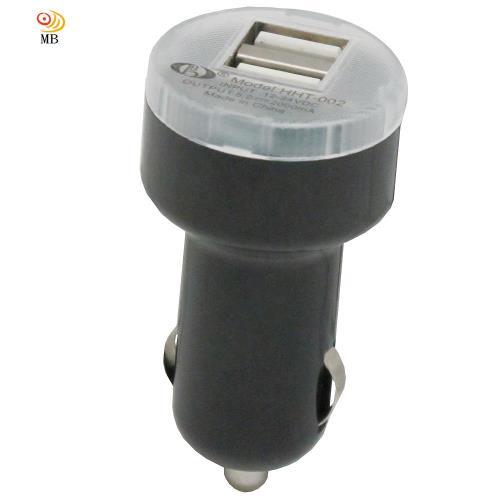 月陽車用12V24V點煙器轉雙USB大電流充電器轉換器(HHT002)