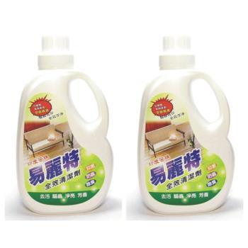 易麗特 印度苦楝防蟲抗菌全效清潔劑2000x2瓶+補充包1000x6包 好康超值組