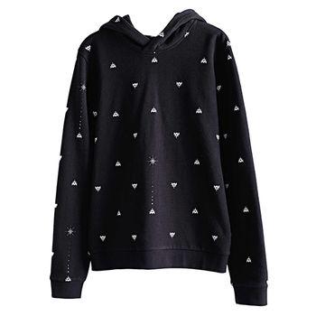【摩達客】韓國進口設計品牌DBSW狙擊星星 - 長袖連帽T恤