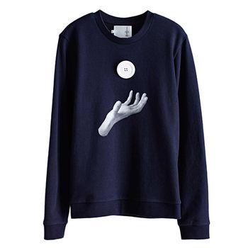 【摩達客】韓國進口設計品牌DBSW地心引力 - 圓領長袖T恤
