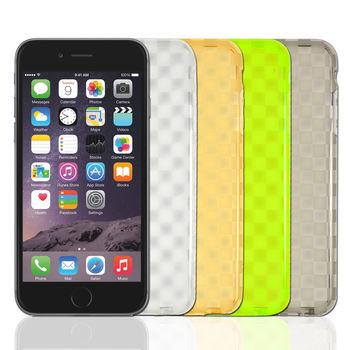 【Fashion】Apple iPhone 6 PLUS 透明格紋高質感保護殼