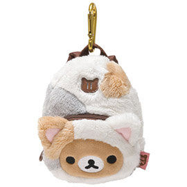 San-X 拉拉熊悠閒貓生活系列背包造型吊掛收納包 懶熊