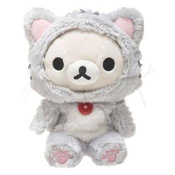 San-X 拉拉熊悠閒貓生活系列毛絨公仔 懶妹