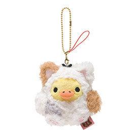San-X 拉拉熊悠閒貓生活系列毛絨公仔吊飾 小雞