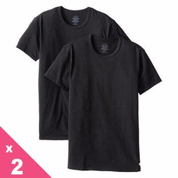 【CK】2014男品味彈力棉黑色圓領短袖內衣2件組(預購)