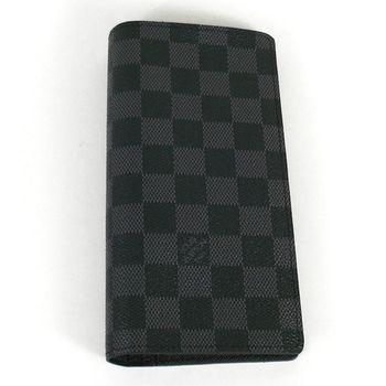 【LV】N62665 黑棋盤格紋雙折零錢長夾.黑(預購)