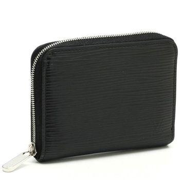 【LV】M60152 EPI 質感皮革壓紋信用卡拉鍊零錢包.黑(預購)