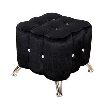 【AHOME】薇多利亞法式浪漫水鑽小沙發腳椅(三色)