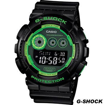 CASIO G-SHOCK 超人氣GD-120運動錶 GD-120N-1B3 綠x黑