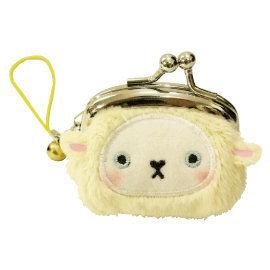 UNIQUE 動物樂園迷你珠扣零錢包  小綿羊