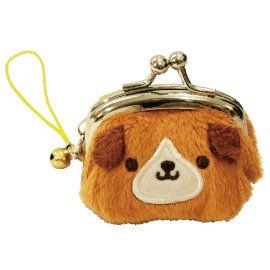 UNIQUE 動物樂園迷你珠扣零錢包  小棕狗
