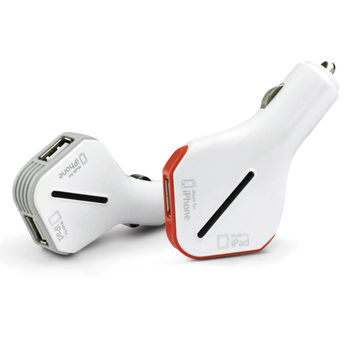 YARK iPhone/iPad雙USB車用充電器