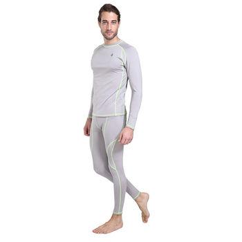 PUSH!機能面料POLARWARM+萊卡完美比例運動保暖長袖內衣褲衛生衣褲圓領男款