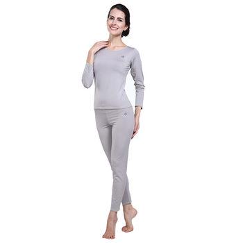 PUSH!機能面料POLARWARM+萊卡完美比例運動保暖長袖內衣褲衛生衣褲圓領女款