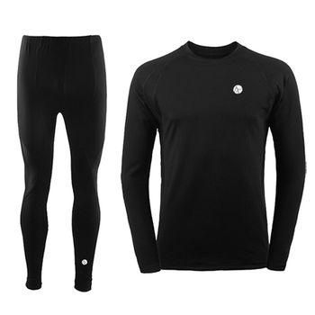 PUSH!機能面料POLARTEC+萊卡完美比例運動保暖長袖內衣褲衛生衣褲圓領男款