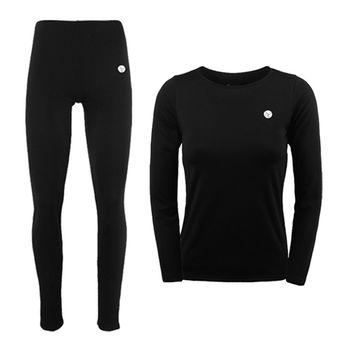 PUSH!機能面料POLARTEC+萊卡完美比例運動保暖長袖內衣褲衛生衣褲圓領女款