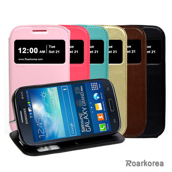 【Roarkorea】Samsung GALAXY GRAND Neo 開框隱藏磁扣式時尚翻頁質感皮套