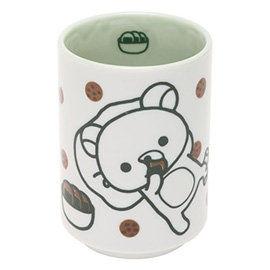 San-X 拉拉熊滿滿懶熊生活系列日式陶瓷茶杯 綠