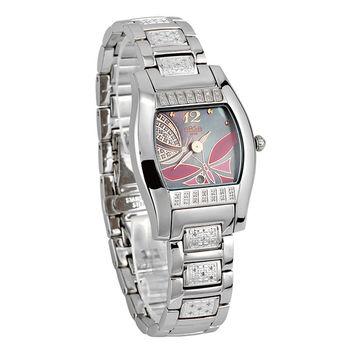 ARSA繽紛彩蝶真鑽腕錶-銀-30mm