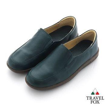 Travel Fox(女) 旅狐休閒鞋 軟式直套休閒鞋 - 綠
