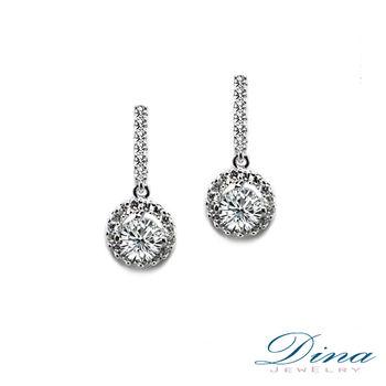 DINA JEWELRY 蒂娜精品 _奢華八心八箭鋯石耳環