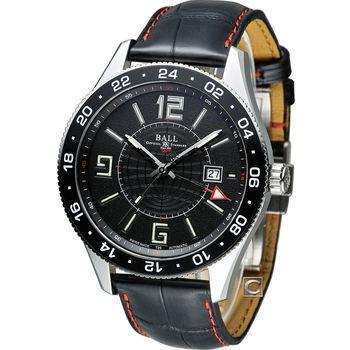 BALL 波爾 Engineer GMT 兩地時間飛行機械腕錶 GM3090C-LLAJ-BK