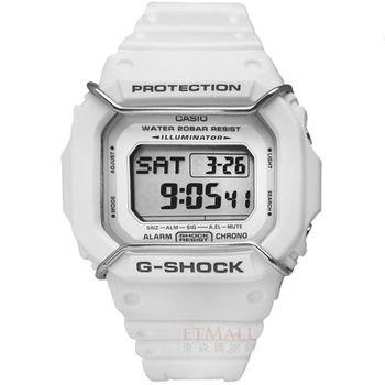 G-SHOCK Original 極限復古風潮防撞運動電子錶 白色 / DW-D5600P-7