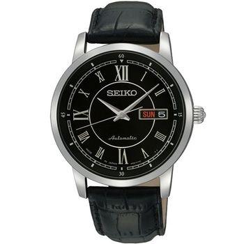 SEIKO 4R36 尊爵時尚機械腕錶-黑  4R36-00Y0A