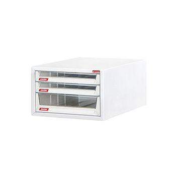 【SONA MALL】B4三層超大桌上雪白資料櫃(2低抽+1高抽)