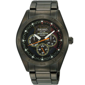 SEIKO criteria 日系魅力限量時尚腕錶-黑 V14J-0BT0SD
