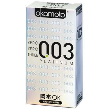 【okamoto岡本OK】 保險套 003 Platinum白金 6片裝