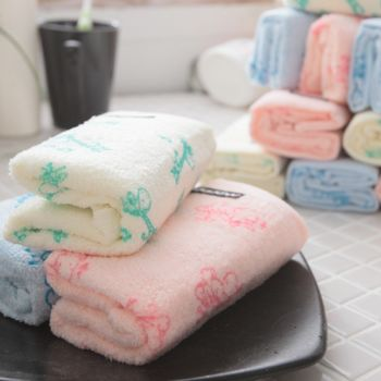 MORINO摩力諾熱帶動物印花童巾(12條組)