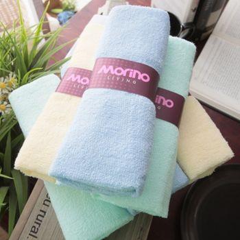 MORINO摩力諾精選素色毛巾(12條組)