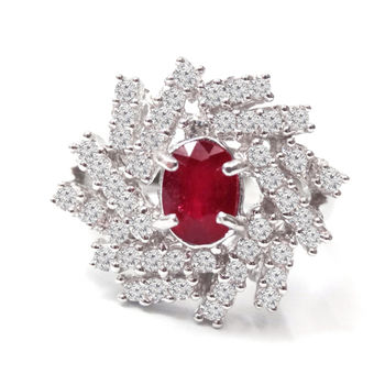 美帝亞  紅色宣言- 盛宴紅寶石戒指(紅寶1.5ct ) (預購)