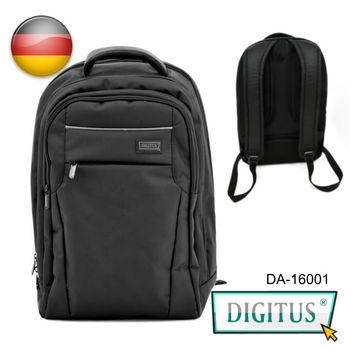【曜兆DIGITUS】 雙內防震袋 筆電/平板雙用護脊後背包(黑色)