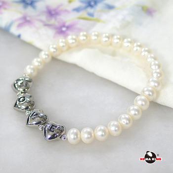 【HEMAKING】享愛 L.O.V.E 6mm 珍珠手鍊