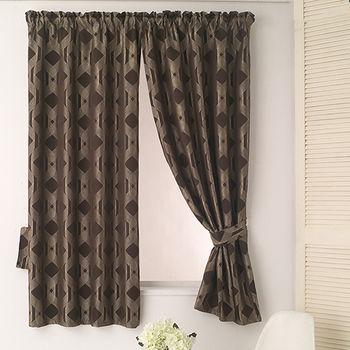 【巴芙洛】米勒咖啡色緹花半腰遮光窗簾200×165