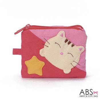 【ABS貝斯貓】可愛貓咪拼布複合式證件零錢包(粉色88-139)