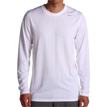 (預購)【Nike】2014男Dri Fit 白色長袖圓領上衣