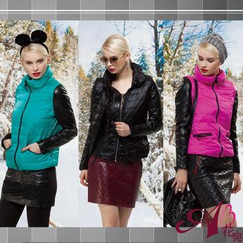 【A3】時尚粉領兩穿羽絨羊皮外套