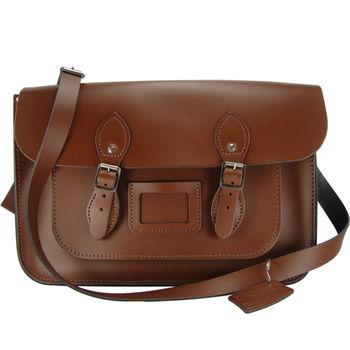 【The Leather Satchel Co.】14吋 英國手工牛皮劍橋包 (栗木棕)