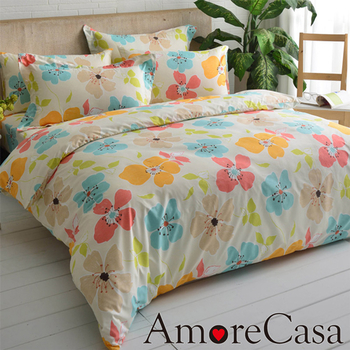 AmoreCasa MIT 彩色花海 雙人兩用被床包組