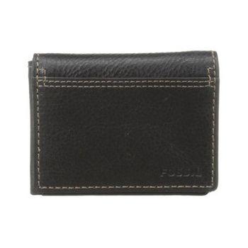 【FOSSIL】2014男時尚魅力粗獷黑色皮夾-網(預購)