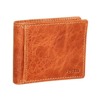 【FOSSIL】2014男時尚Ingram旅行者白蘭地棕色皮夾-網(預購)