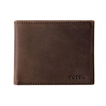【FOSSIL】2014男經典品味Nova深褐色皮夾-網(預購)
