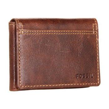 【FOSSIL】2014男時尚魅力粗獷深褐色皮夾-網(預購)