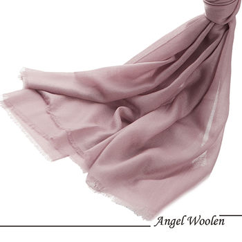 【Angel Woolen】天使粉晶 鑽石紋羊絨披肩
