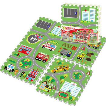 【LOG樂格】環保遊戲巧拼墊-動物社區