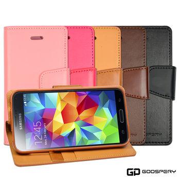 【GOOSPERY】Samsung Galaxy S5 小牛皮磁扣式翻頁皮套